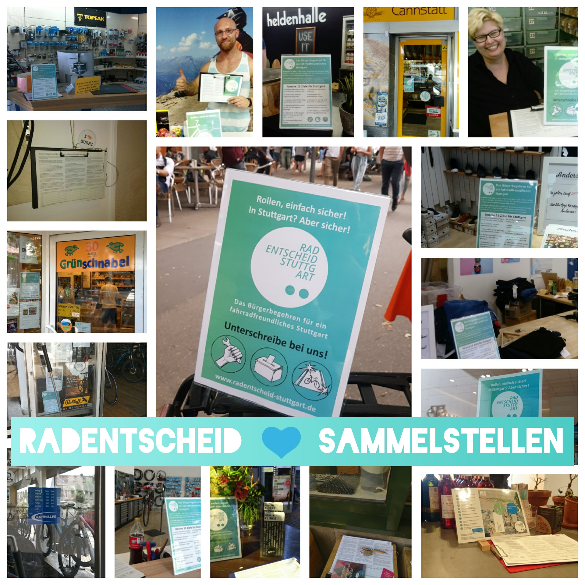Collage Sammelstellen
